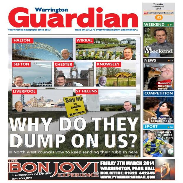 Warrington Guardian: Today's front page