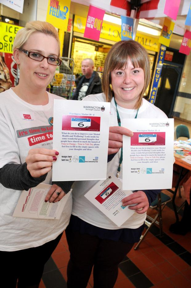 Warrington Guardian: Katie Lightfoot and Sue Hogan at Warrington Market