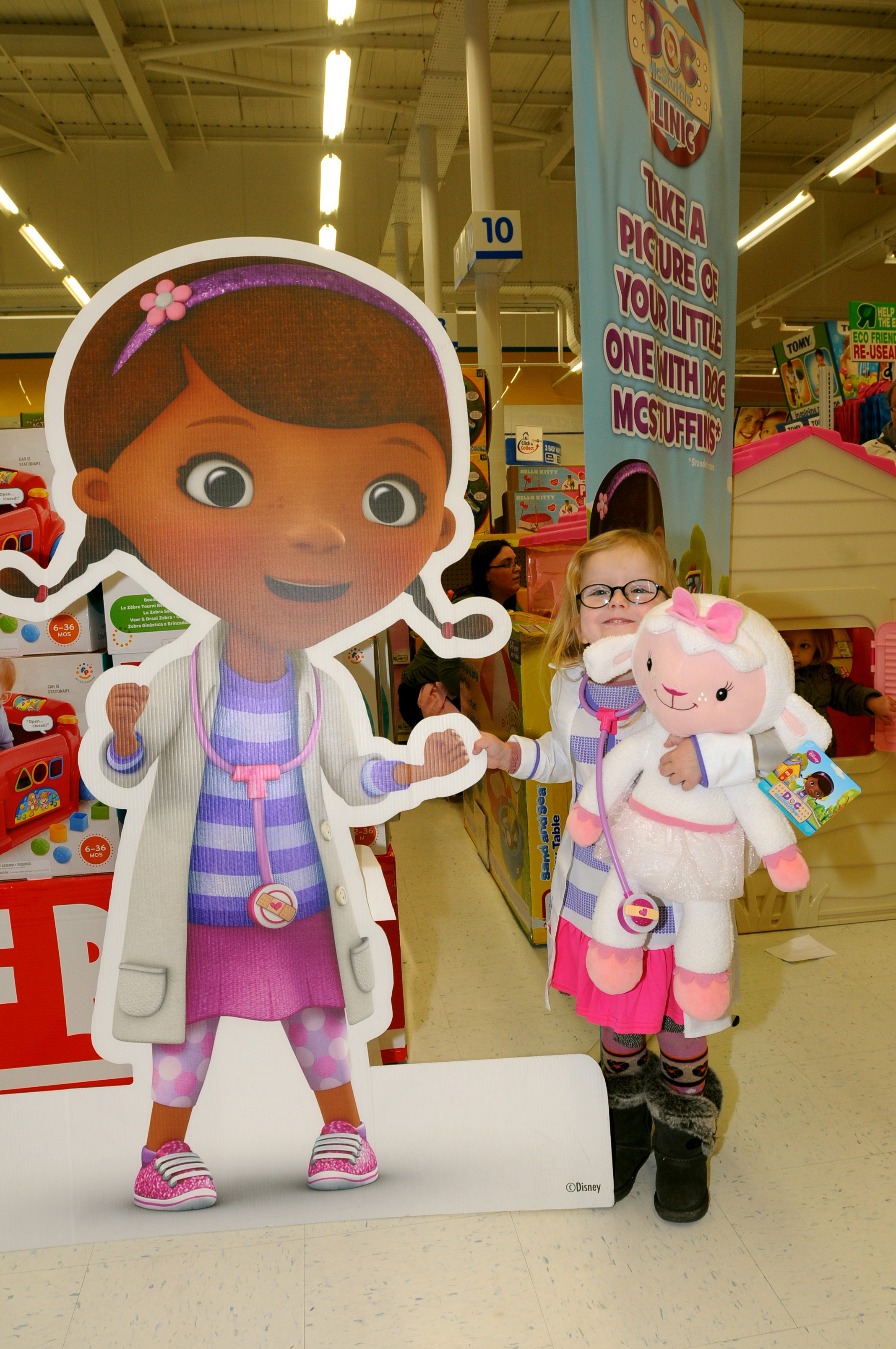 Disney apologise over cardboard cut-out Doc McStuffins
