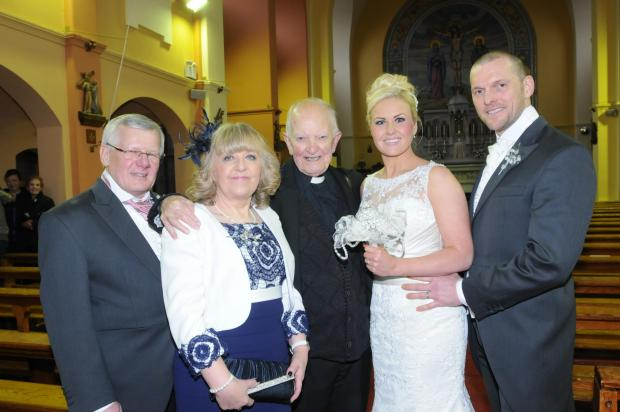 Frank and Rita Hawley with Father Bill and Fran and Nick Forrester