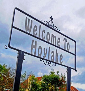 Warrington Guardian: Hoylake sign