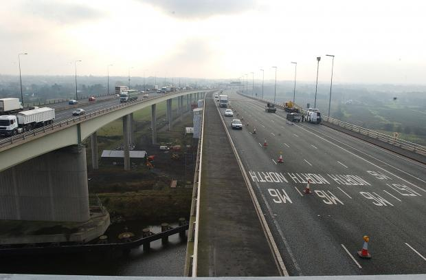 Motorway works will close Thelwall Viaduct tonight
