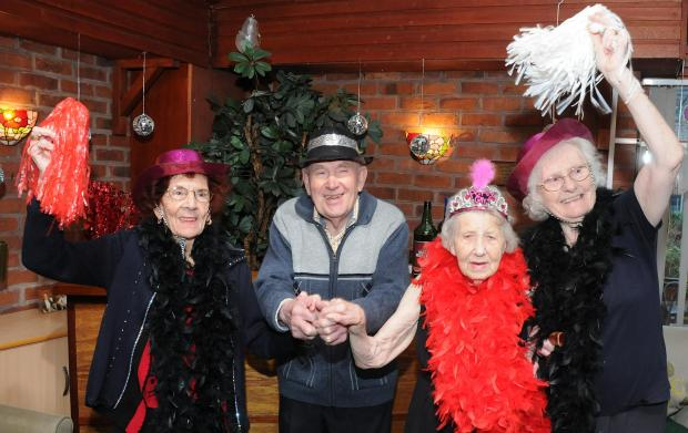 Residents of Holcroft Grange during a Strictly event last month