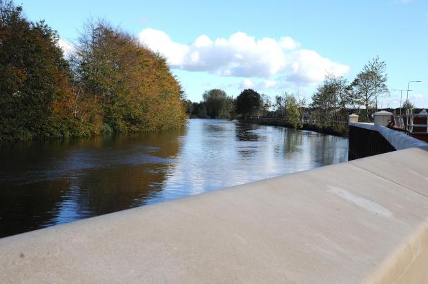 The new flood defence work