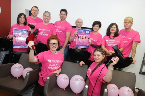 Hairdressers backs St Rocco's Starlight walk
