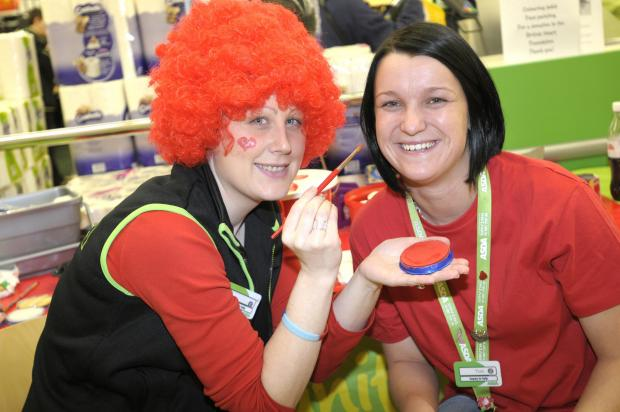 Asda staff go red at Cockhedge