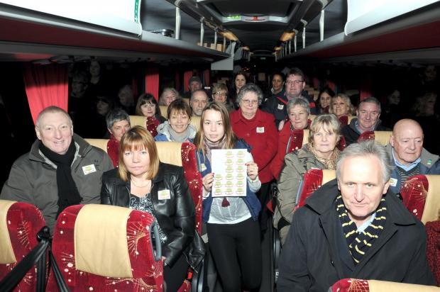 Warrington Guardian: Villagers travelled by coach to protest in 2012