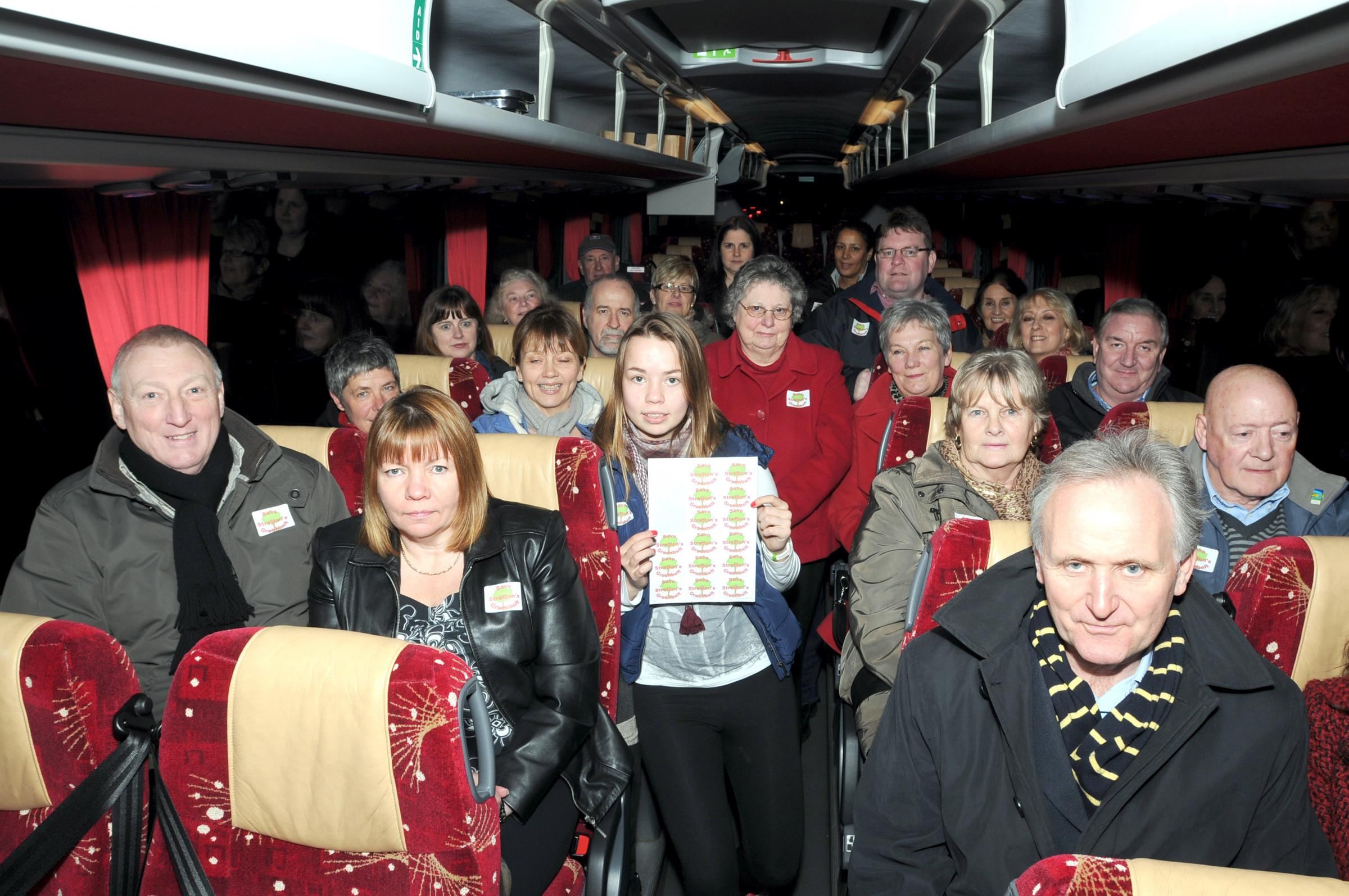 Villagers travelled by coach to protest in 2012