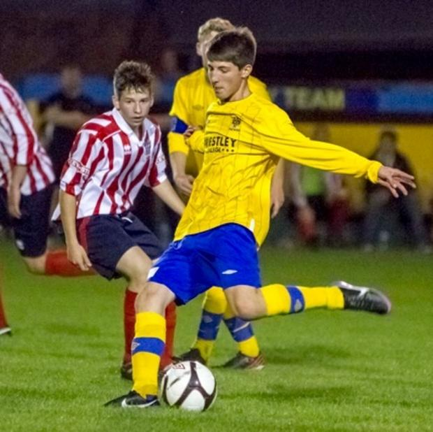 Ben Collins against Witton Albion. Picture by John Hopkins