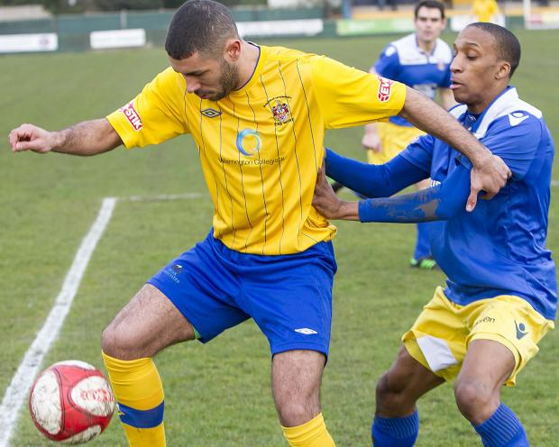 Warrington Guardian: Ash Ruane helped to liven things up in the second half. Picture by John Hopkins
