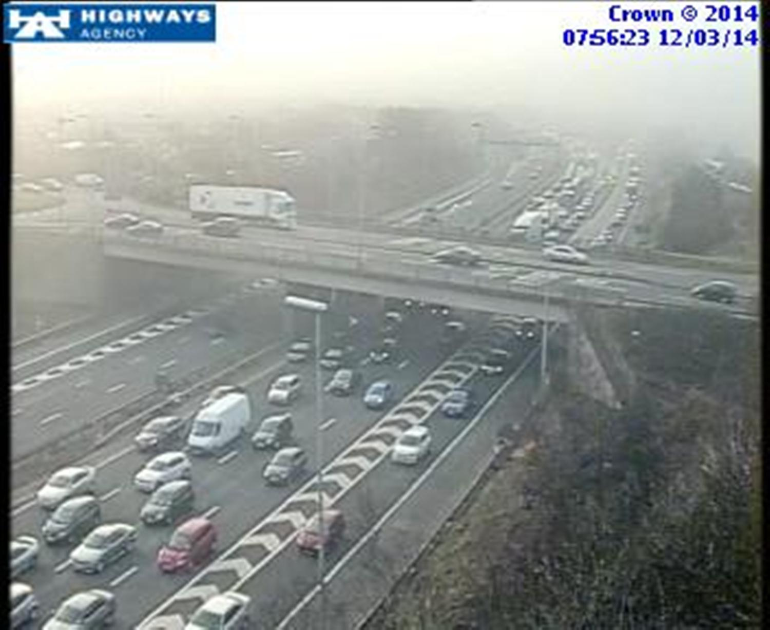 Accident causes long delays on Thelwall Viaduct