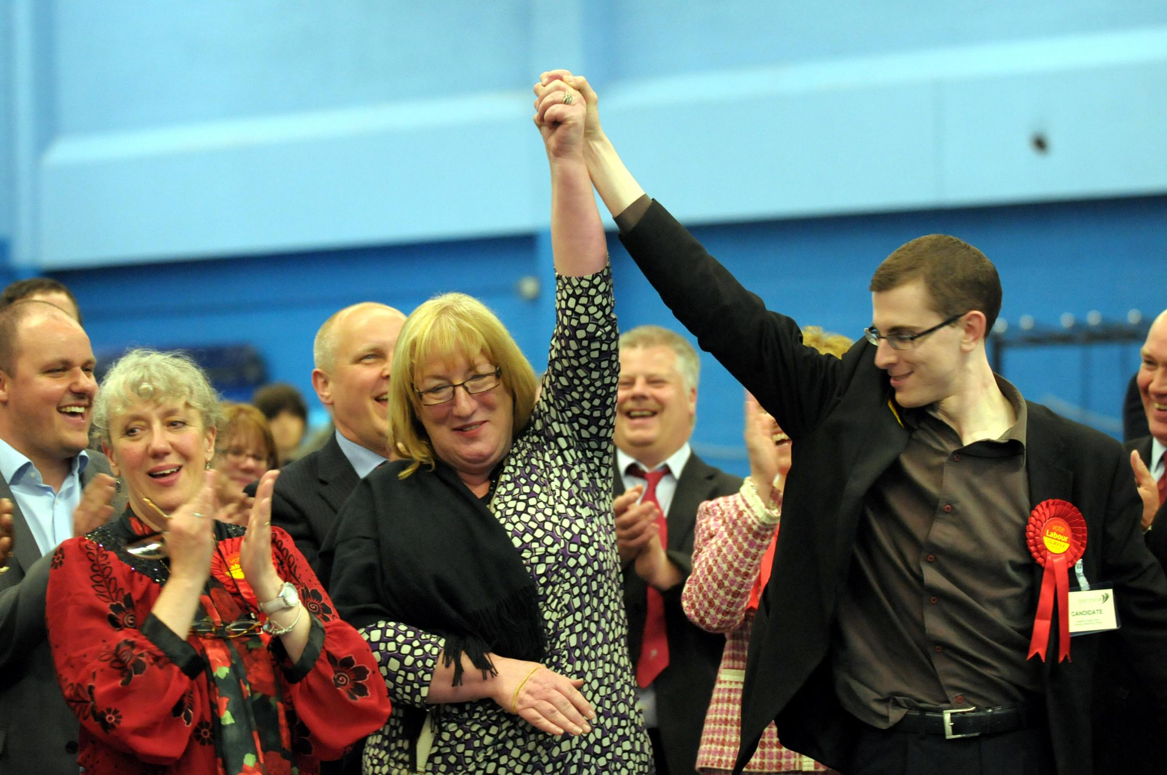 Jan Davidson celebrates her win in 2011