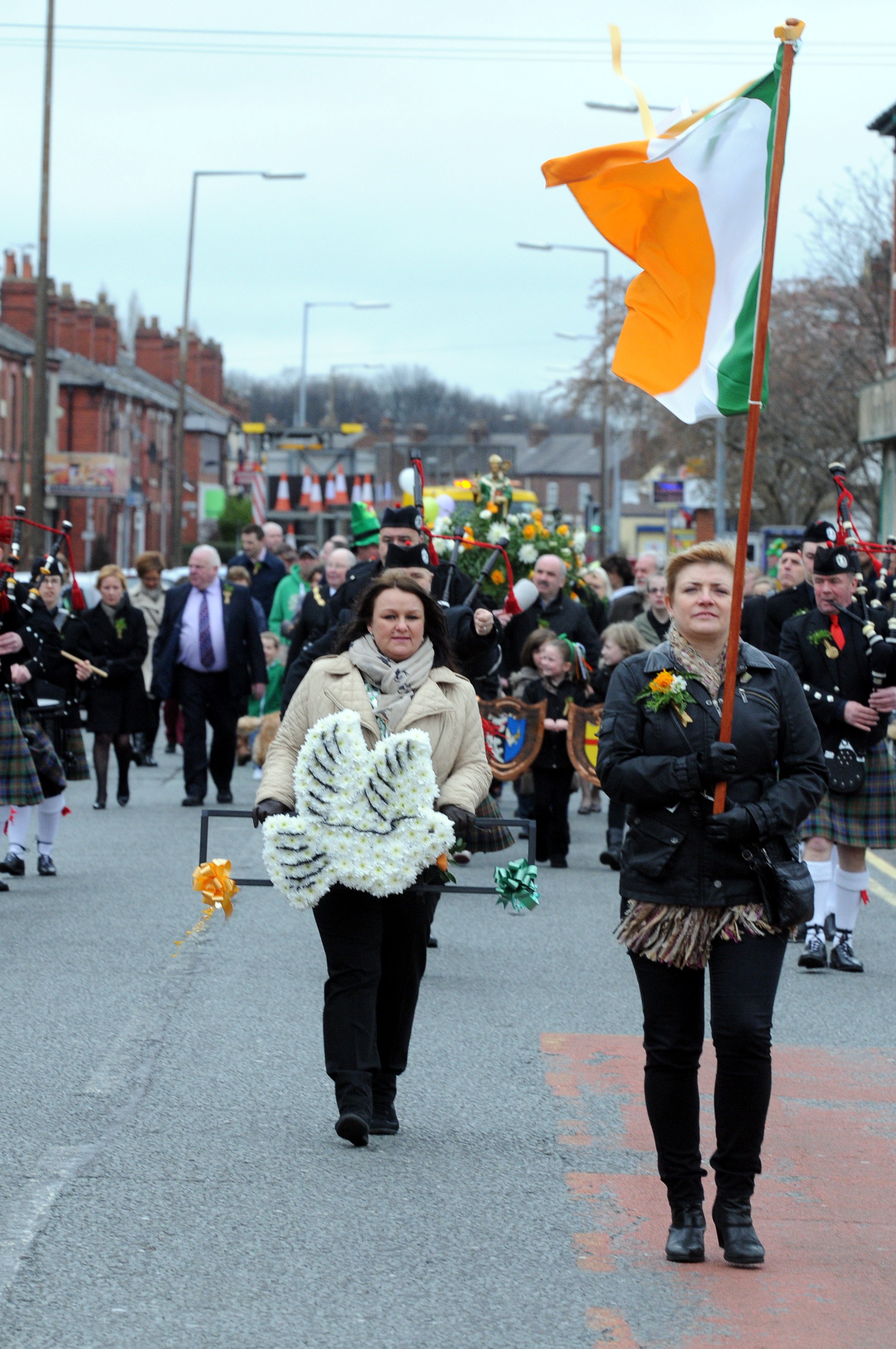 PICTURES: Annual Irish parade makes its way through Warrington