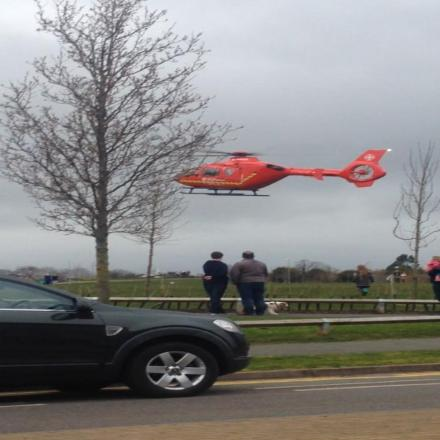 Air ambulance called to boy who fell from tree