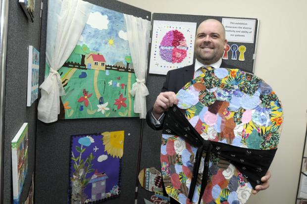 Patients display work at hospital in Warrington