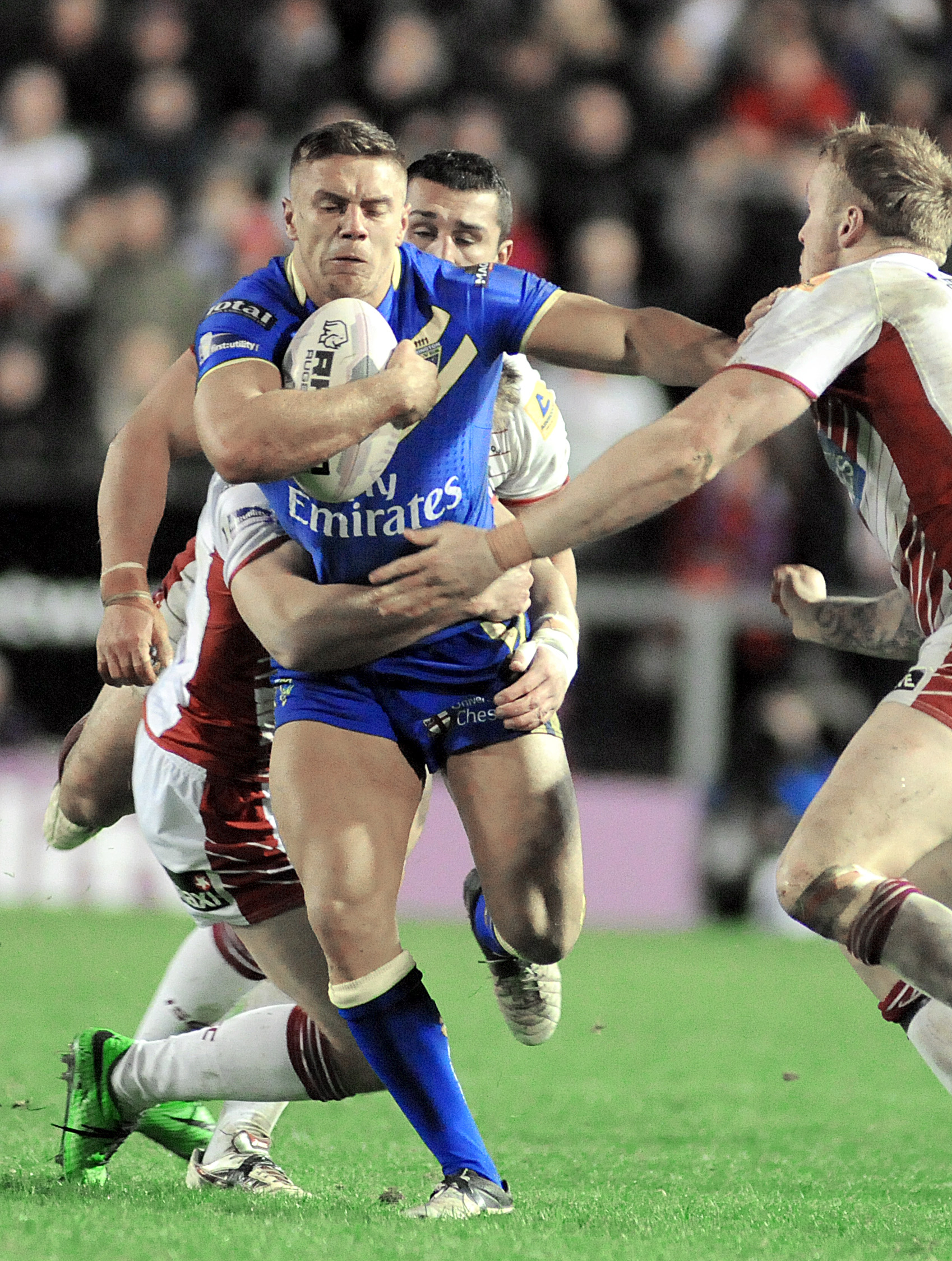 Matty Russell against Wigan. Picture by Mike Boden