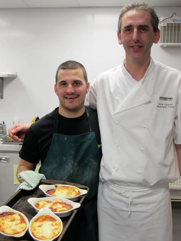 Warrington Guardian: David Morgan tries his hand at Italian cooking, Vegetarian Society style