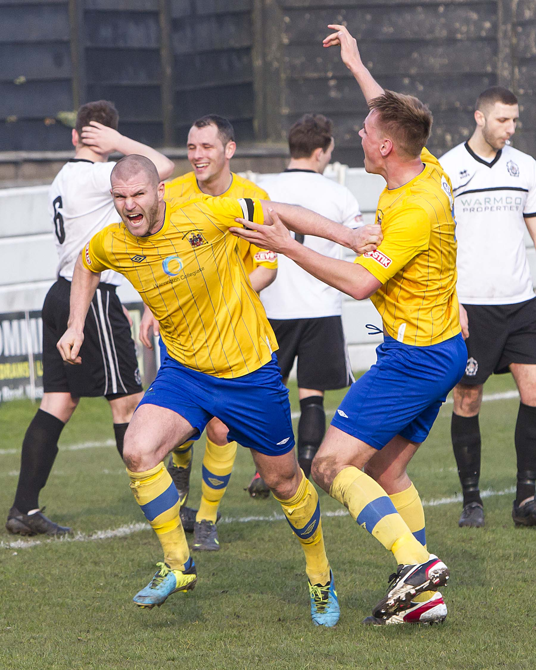Unfortunately Town's celebrations after twice taking the lead were a little premature. Picture by John Hopkins