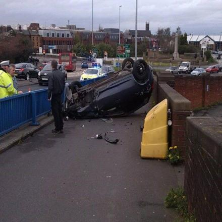 One man in hospital after Bridgefoot car flip