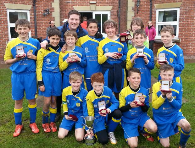 The jubilant Grappenhall Sports under 11s team