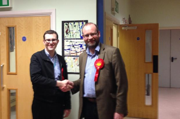 Houghton Green resident Clr Mike Matthews with Clr Chris Vobe