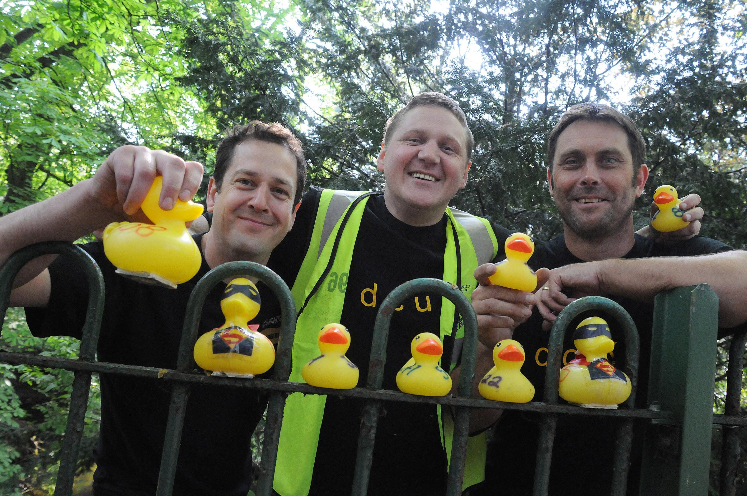 Crowds gather for Lymm Duck Race