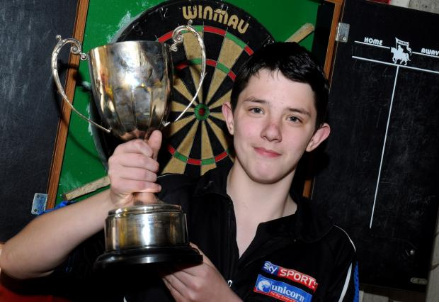 Warrington Guardian: Marc Williams with the silverware  Picture: Dave Gillespie 	 	MBAA150414