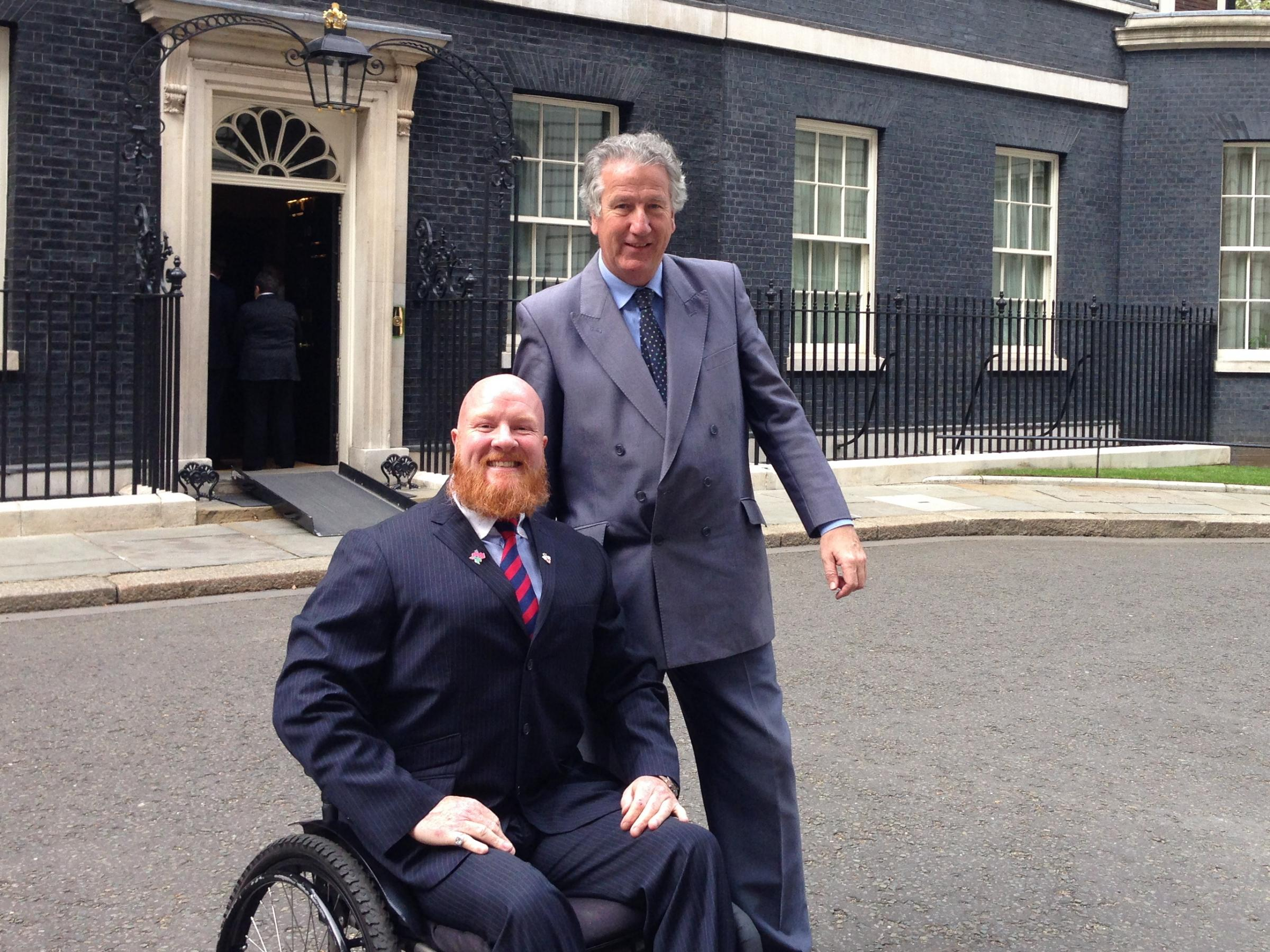 Adrian Derbyshire and David Mowat at 10 Downing Street