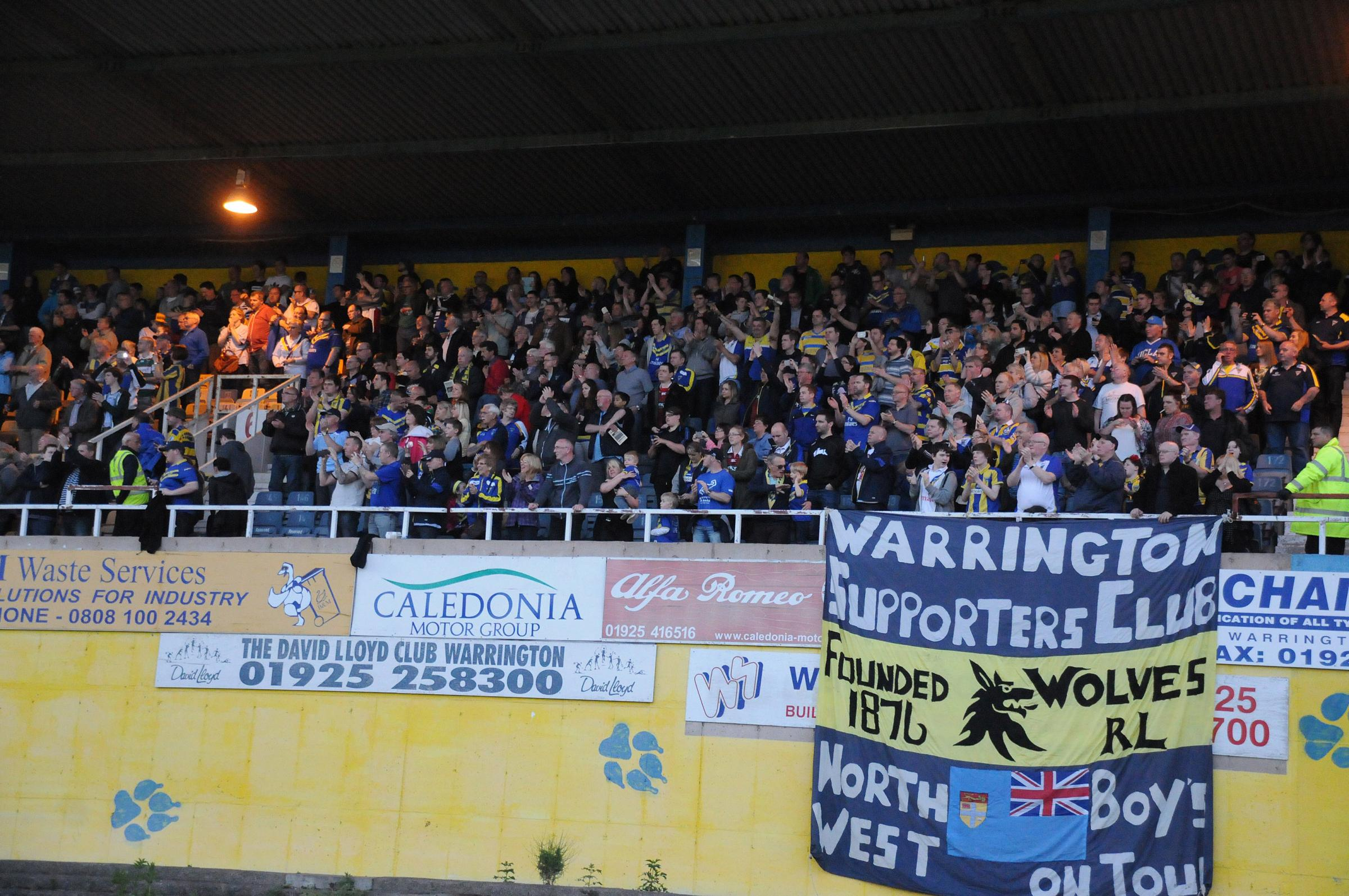 PICS: Wolves fans say final farewell to Wilderspool