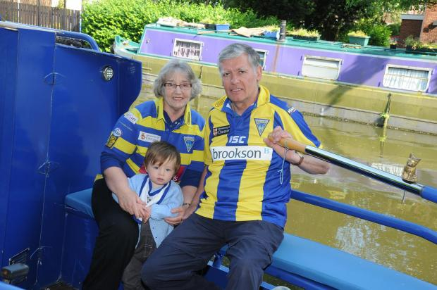 Warrington Guardian: Couple barge their way to Magic Weekend
