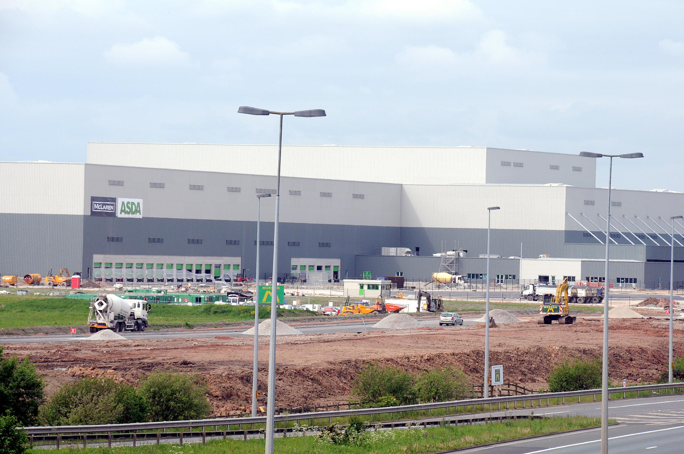 The Asda development taking shape on Omega
