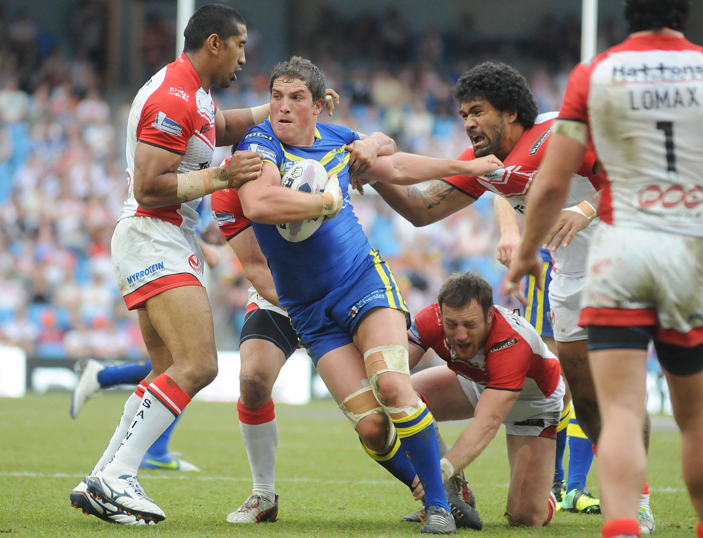 Ben Harrison charging in against St Helens
