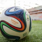 Warrington Guardian: File photo dated 10/12/2013 of Detail of the Official FIFA match ball, the brazuca. PRESS ASSOCIATION Photo. Issue date: Thursday May 29, 2014. From samba stars to sunshine football, whole shanty towns of cliches have clung to the 2014 World Cup finals si