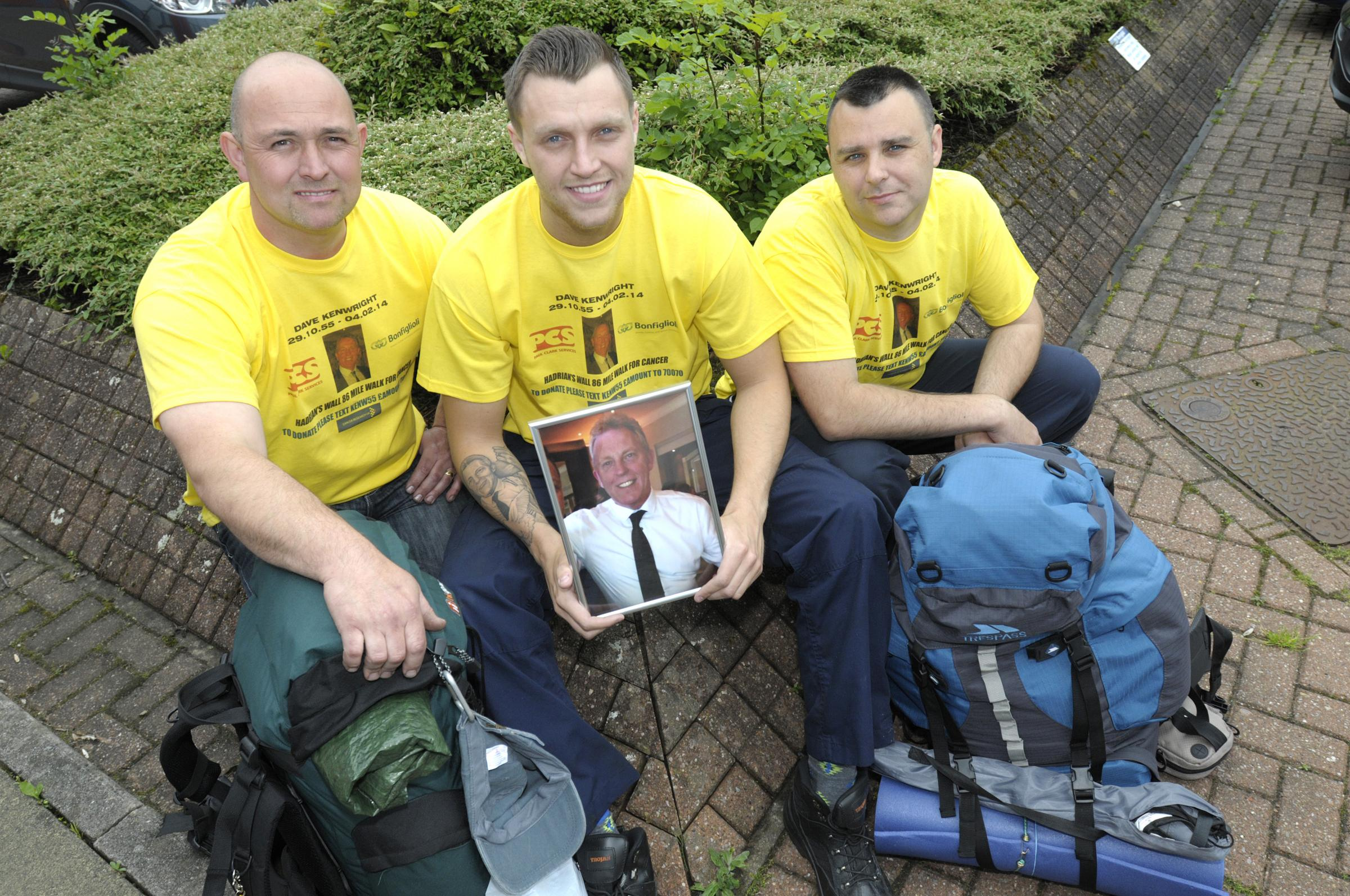 Sons conquer Hadrian's Wall in memory of 'once in a lifetime' dad