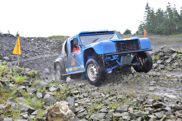 Mike Moran tackles a quarry in an AT 4x4 Challenger