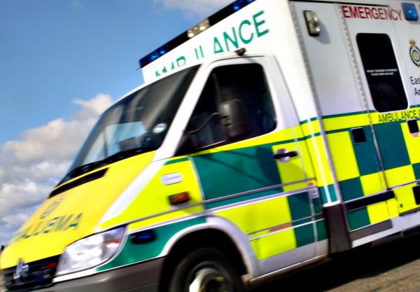 Cyclist rushed to hospital after crash with parked car