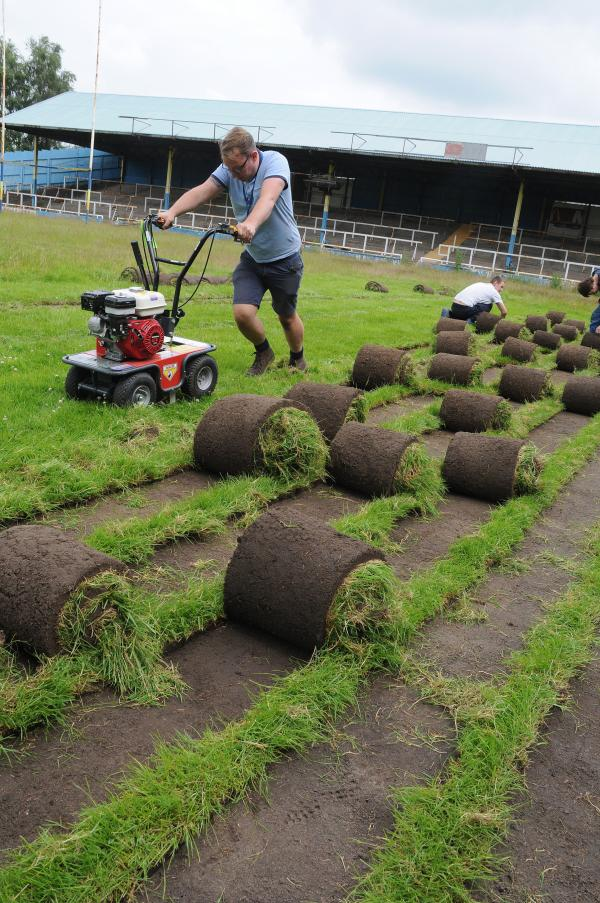 Youngsters cut up turf from Wilderspool Stadium