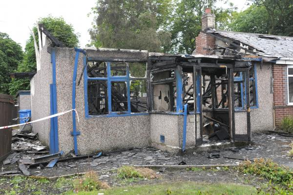 UPDATED PICS ADDED: 11.50am: 94-year-old man dies in Winwick house blaze