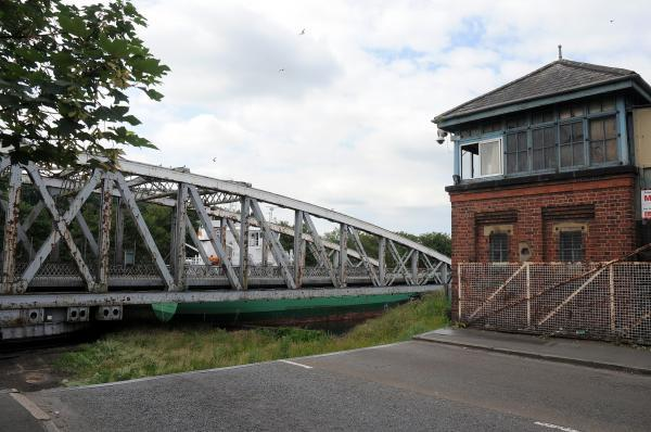 Swing bridge in Stockton Heath