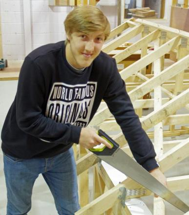 Carpentry and joinery student James Jones