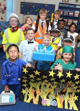 Pupils don their chosen profession's uniforms as part of hopes and dreams week