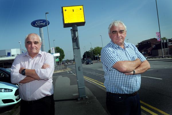 Twins 'ambushed' by same speed camera in town centre