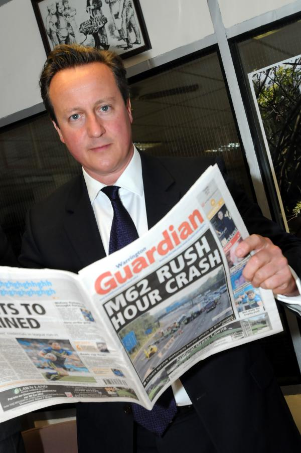 VIDEO: David Cameron talks tolls during visit to the Warrington Guardian office