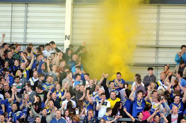 A flare was let off when Warrington played Widnes earlier in the year