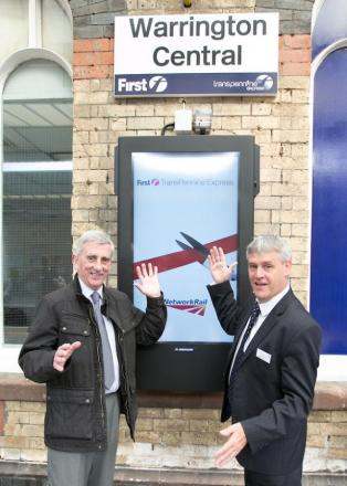 Jazz hands: Council leader Clr Terry O'Neill and Manchester Hub stations manager Billy Vickers