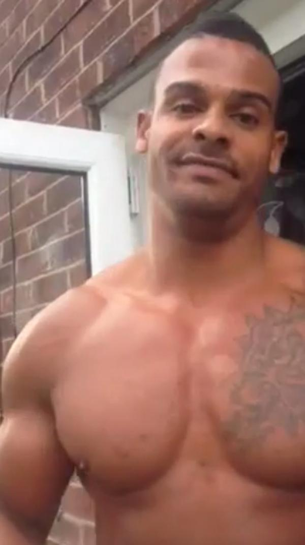 Kerry's fiance, George Kay, accepts the ice bucket challenge