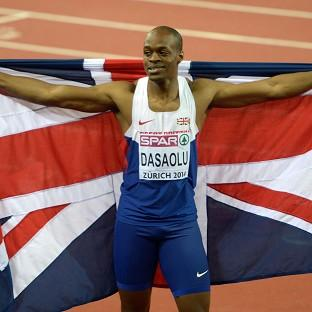 James Dasaolu clocked 10.06 seconds to come third in the 100 metres event