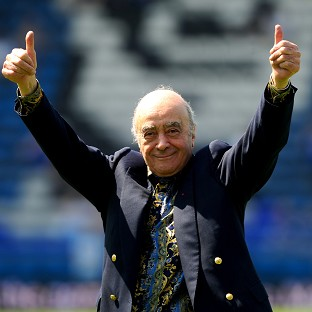 Former Fulham owner Mohamed Al Fayed, pictured, has hit back at Cottagers manager Felix Magath