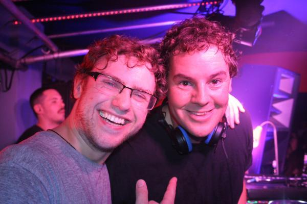 James Glover (right) with DJ and producer Josh Butler