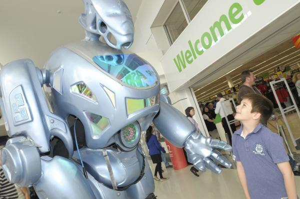 Birchwood shopping centre invaded by robots